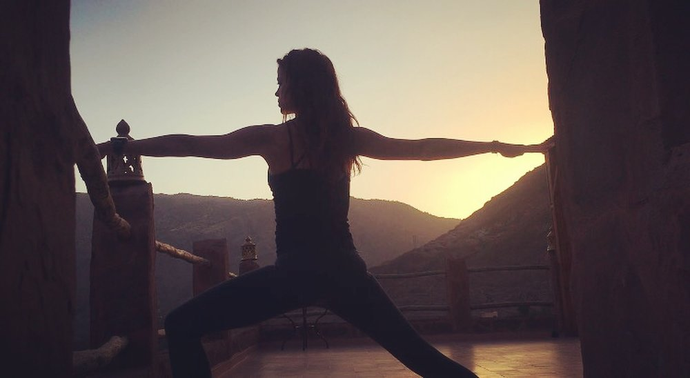 Namaste - Daily yoga & meditation on the beautiful rooftop terrace with mountain views. Clear alignment based instructions that will get your body ready to run and your mind calm, clear & focused.