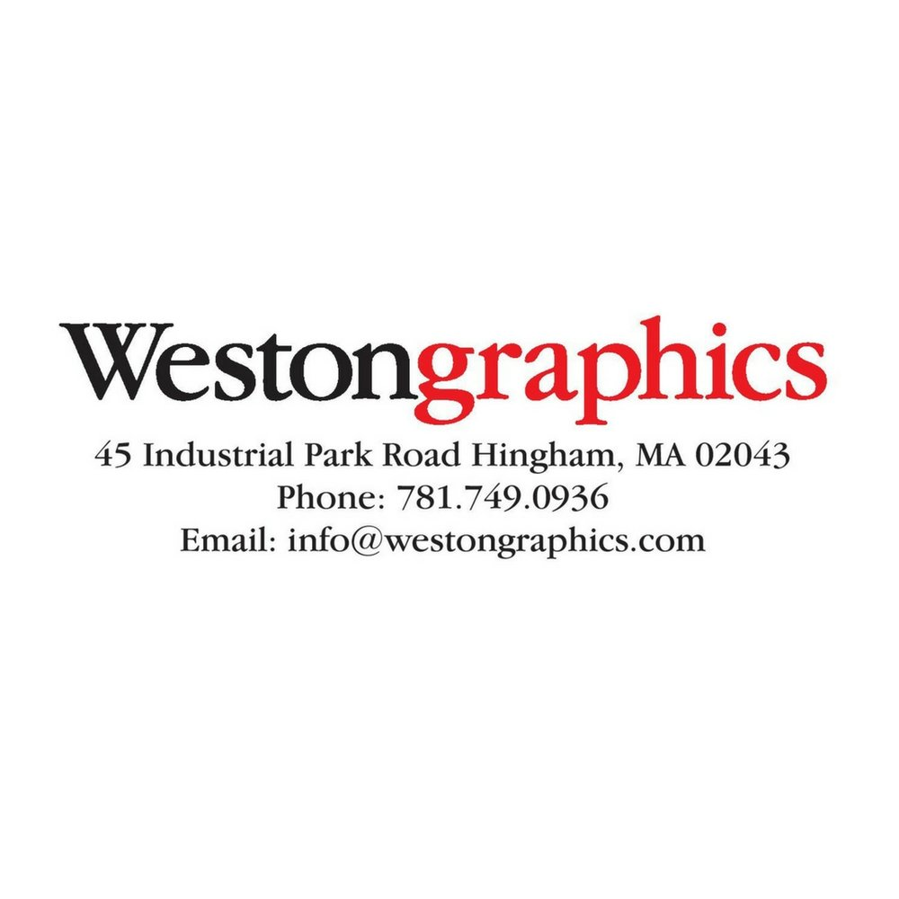 Westongraphics - Hingham, MAWestongraphics is responsible for the printing of our banners and signage! Located in Hingham, they offer a comprehensive range of services from simple copying to complex digital imaging and creative graphic design. Whether it's finishing that document archiving project you started last year, printing the signage you need for your new store or rejuvenating your corporate identity -- they will help you complete your project in an efficient and timely manner.Learn More