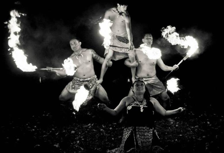 Polynesian Fire Performances- Fire Knife and Fire Poi