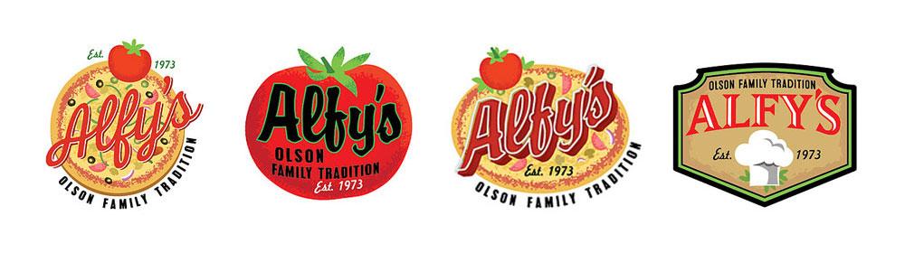 Restaurant brand design logo design process