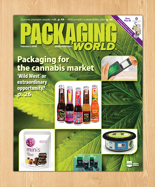 packaging design, label design, cannabis brand design, packaging world magazine, packaging for cannabis market