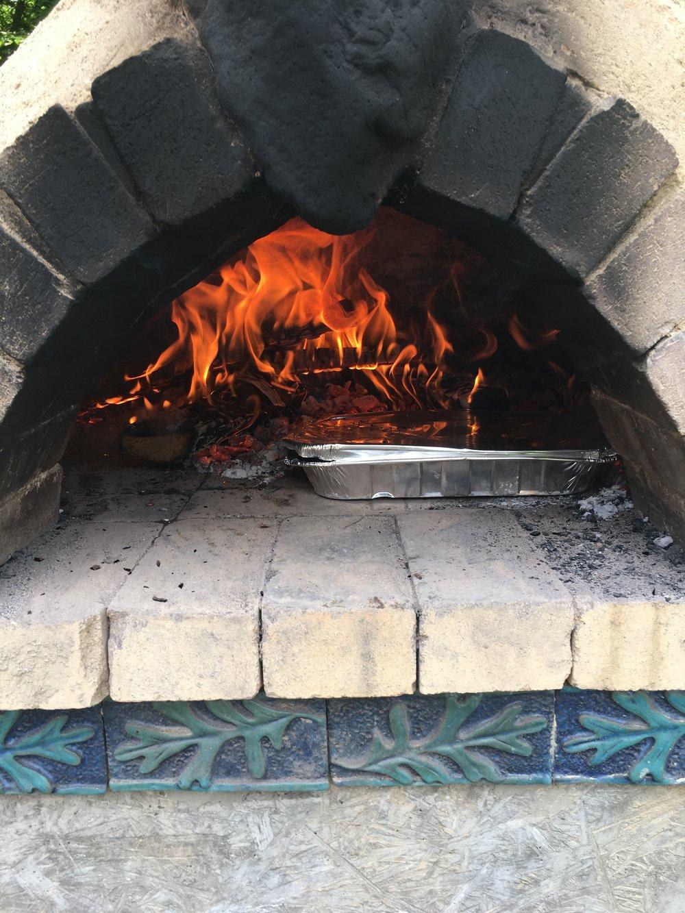 Pizza oven @ Luna Parc