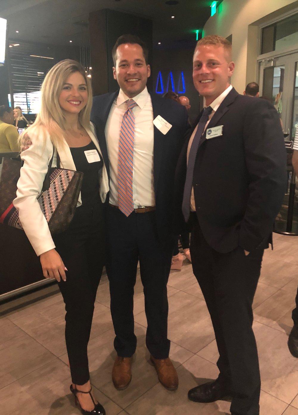 Chelsea Hanson, Ryan Reif, and Scott Dalto