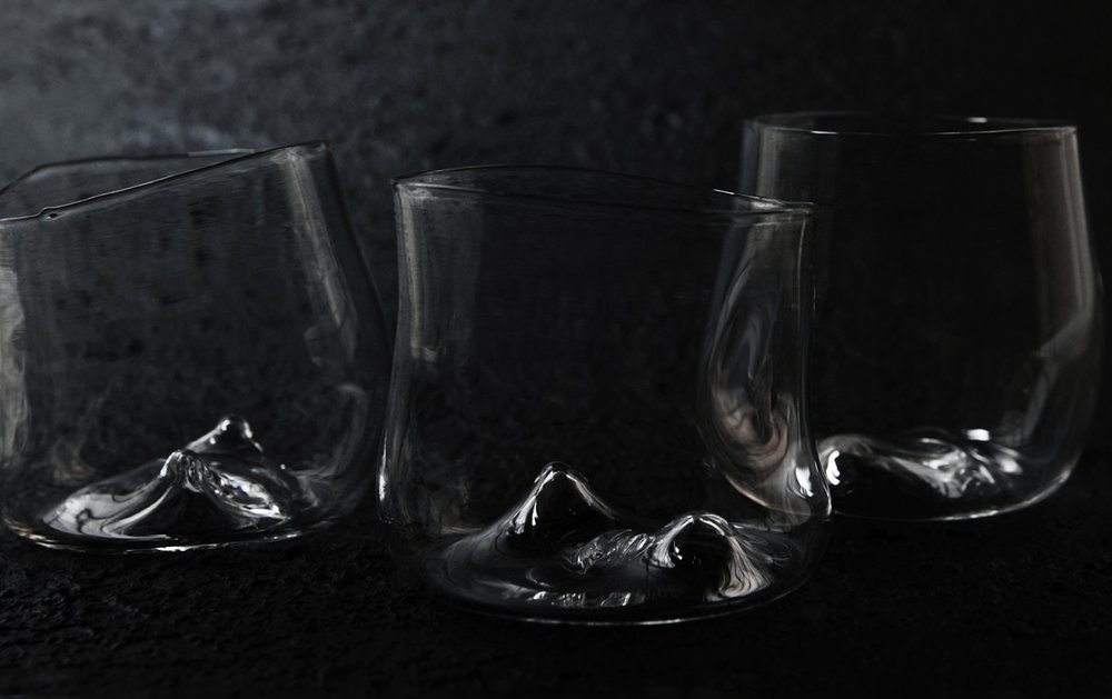 uneven edges ask the brain to actually see the glass rather than structure a perception based on previously experienced forms