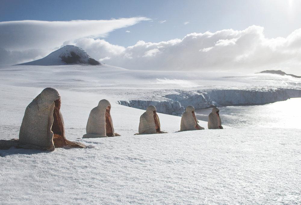 Allan Jeffs' 'Penitentes' originally installed in Antarctica