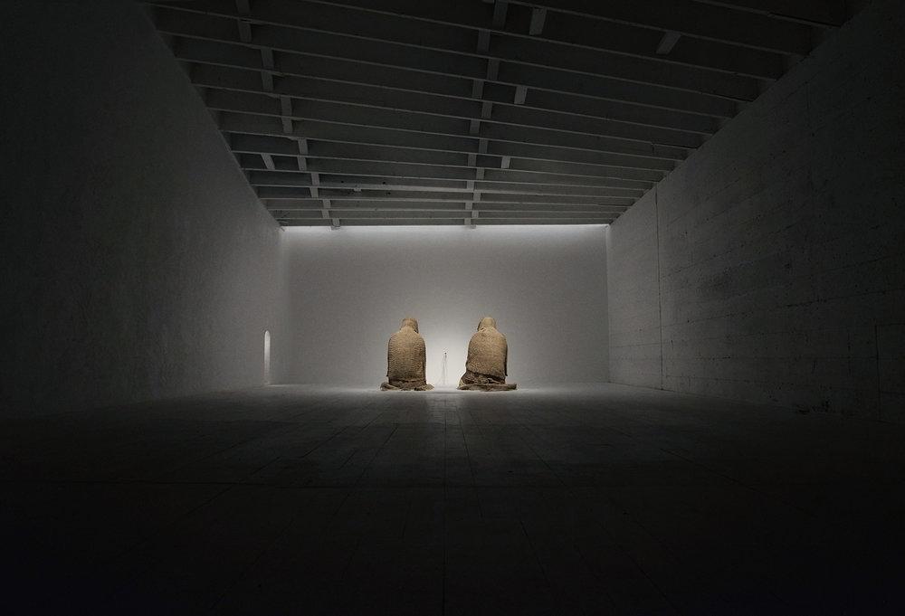 curation & environment for Allan Jeffs installation 'Penitentes'