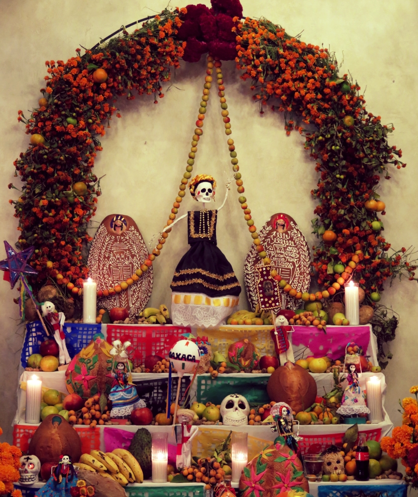 Dia de los Muertos  altar, Oaxaca, Mexico