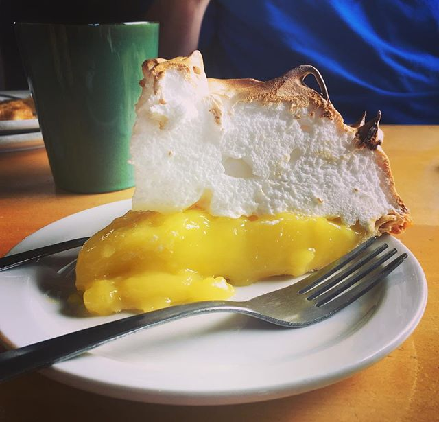 Mile-High meringue pie. #staycation