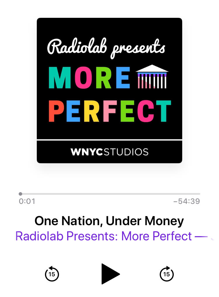 Radiolab presents More Perfect Podcast