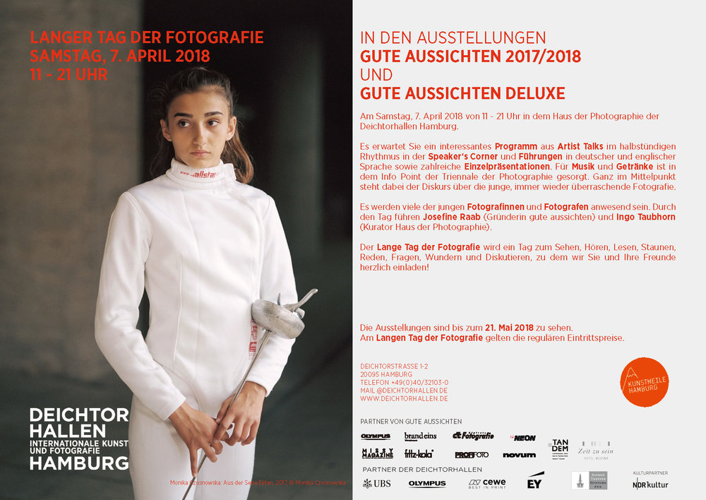 Langer Tag der Fotografie   gute aussichten - new german photography Samstag, 7. April 2018 von 11 – 21 Uhr im Haus der Photographie, Deichtorhallen Hamburg