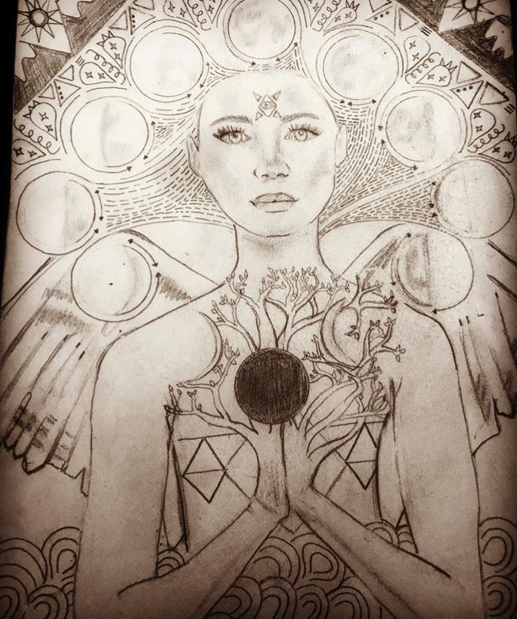 Sketch by Stevie Goggans - 300 HR Peru 2017 Kula Graduate  IG @stevie-yogini