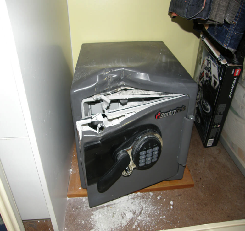 Not our actual safe - we never took a picture