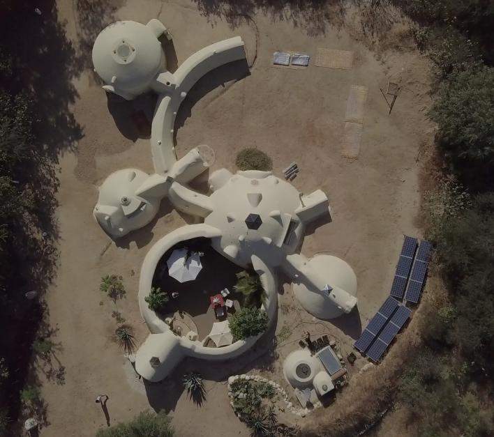 earthbag dome home retreat