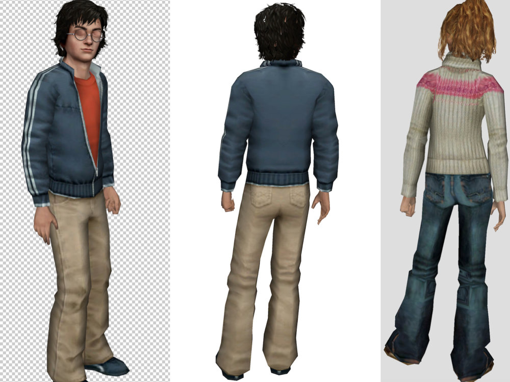 3D models for Characters. -