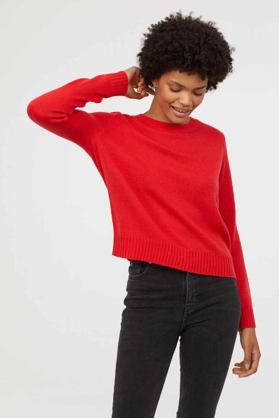 SS19 Trends- Bold Hues Red Sweater