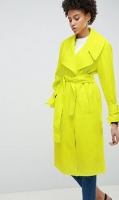 SS19 Trends- Bold Hues Chartreuse Coat
