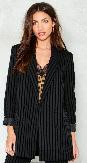 SS 19 Trends- Unconventional Suiting Pinstripe Blazer