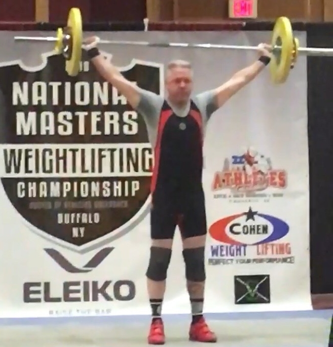 Strongman Bill Hess at the National Weightlifting Championship in Buffalo NY.