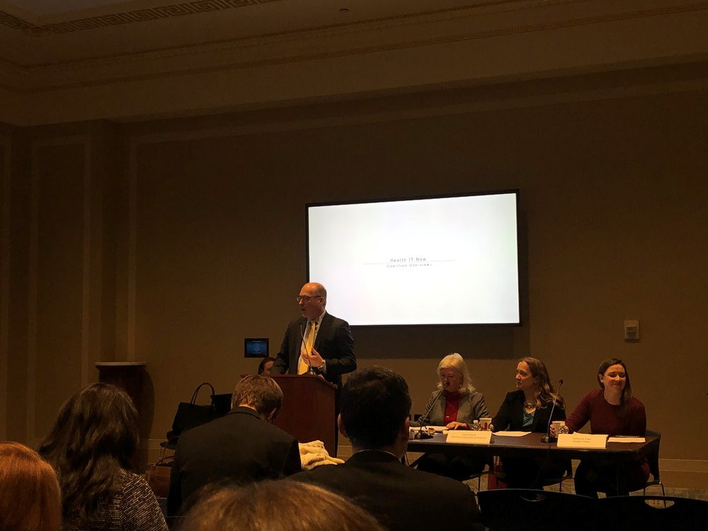 """HITN Executive Director Joel White speaks at today's """"Health IT 101"""" briefing alongside Teladoc Health and Tourette Association of America"""