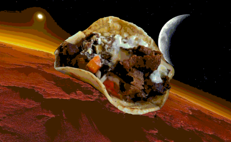 Check out Trevor's custom donair photo! He is very proud of it. DONAIRS ON MARS!