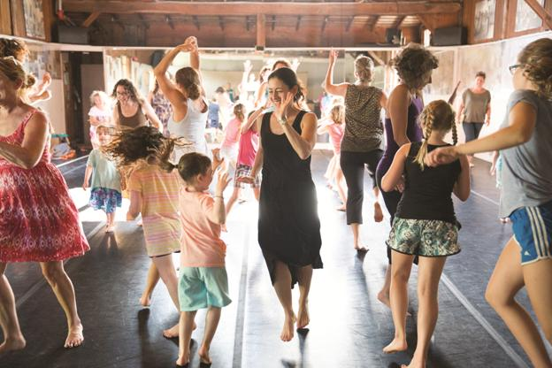 Families Dance Together  at Jacob's Pillow