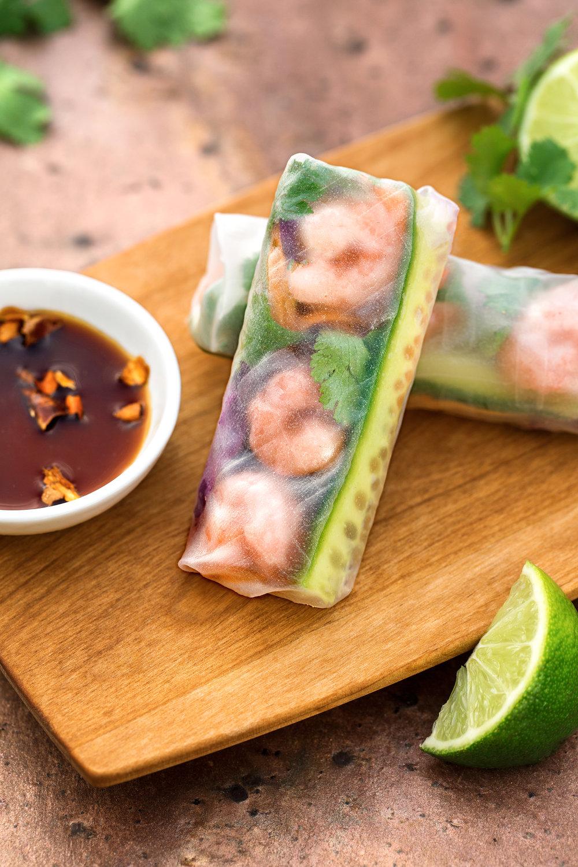 Rice Paper Shrimp Rolls