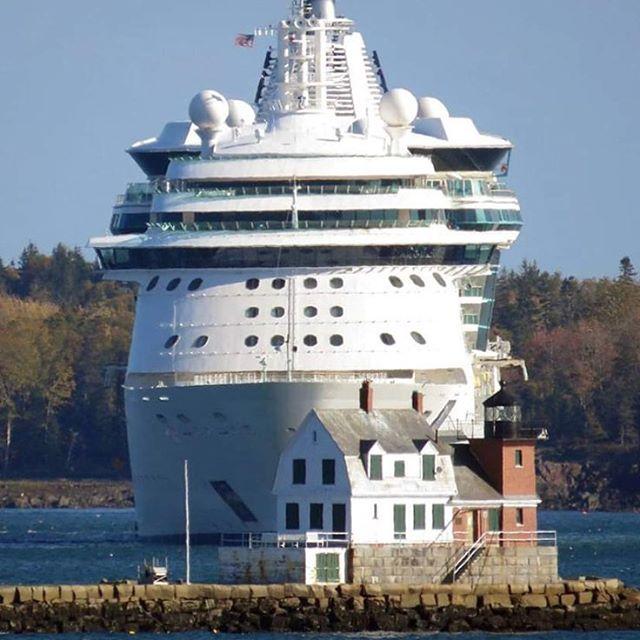 Serenade of the Seas anchored in Rockland! #maine #serenadeoftheseas