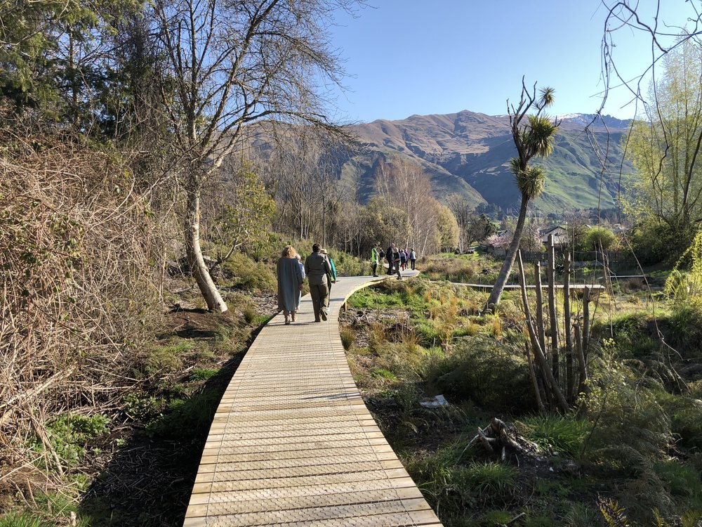 To everyone involved withe the turning of the Bullock Creek Hatchery reserve into a magnificent asset it is today. Your vision, determination, time and money in creating a natural, peaceful place to contemplate and appreciate has enriched the lives of those who live in the Wanaka Retirement Village - Thank you!!!
