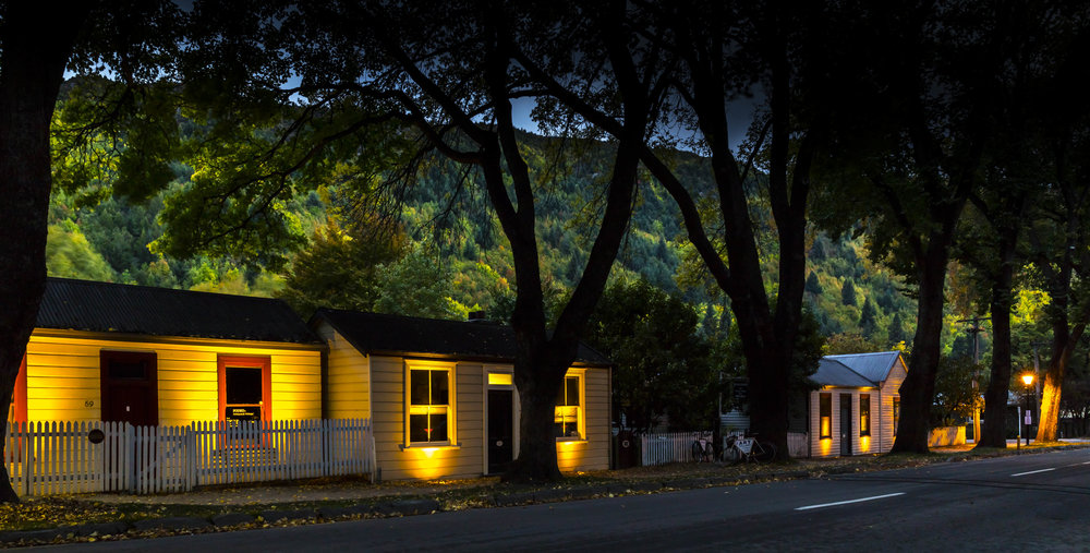 Arrowtown's heritage building's will shine brighter with a grant towards Arrowtown Charitable Trust and QLDC's lighting project.  Stage one of the project lighting public amenities pictured above is already complete, while stage two will see a further 15 building's facades in the CBD to be lit.