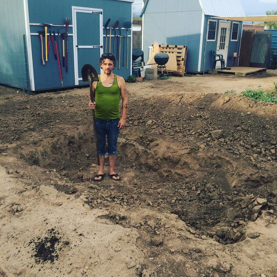 Every landscape and garden bed was dug and amended.