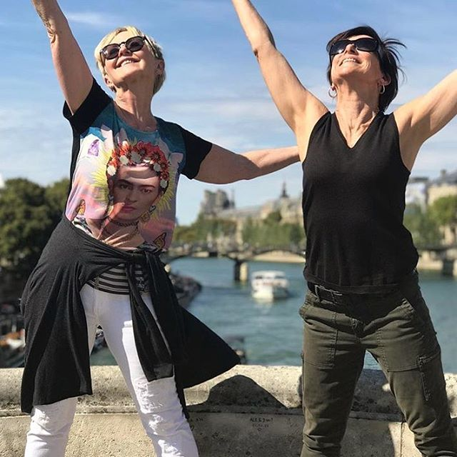 LOVING LIFE IN PARIS - sending love to all our Pilates fam back home . Much love from Jenny & Jenni 🥖🇫🇷
