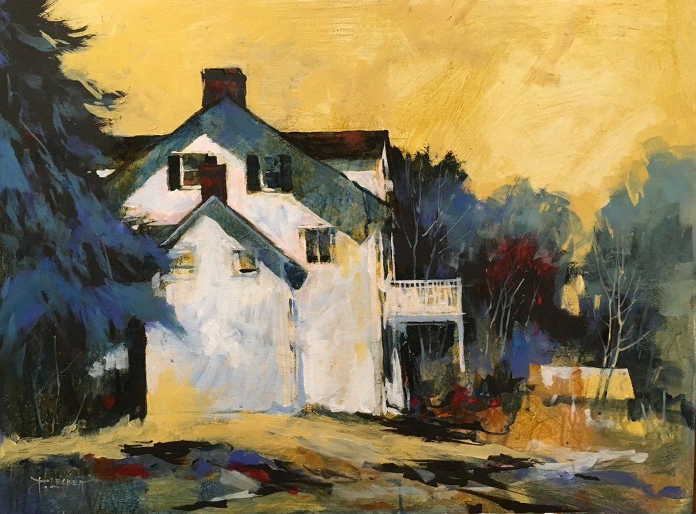 Billings Estate - 2018, acrylic on panel22x30 in