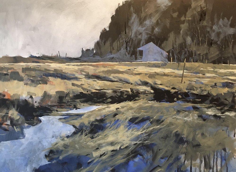 Partridge Island, NS - 2017, acrylic on panel18x24 in