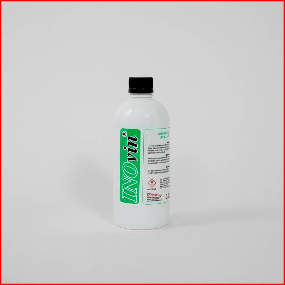 INOvin - Primjena:• Čišćenje i odmašćivanje INOX i PVC posuda i cijevi u domaćinstvu i industriji