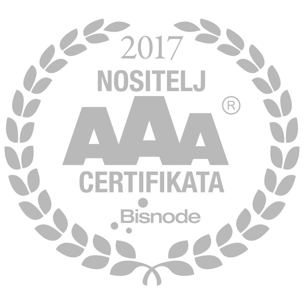 AAA Certifikat bonitetne izvrsnosti - S ponosom ističemo da Inovet d.o.o. posjeduje AAA Certifikat bonitetne izvrsnosti koji nam je dodijelio Bisnode, vodeći pružatelj poslovnih informacija u Hrvatskoj i Europi.Zahvaljujući izvrsnim poslovnim rezultatima te likvidnom i solventnom poslovanju, Inovet d.o.o. pripada skupini od 5% poduzeća u Republici Hrvatskoj koja su zadovoljila međunarodni standard bonitetne izvrsnosti.