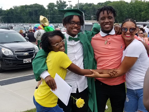 "Marquitta Trotter's ""little crew,"" her children: ""They keep me young."""