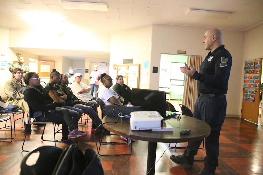 Detective JC Gutierrez (Vice & Narcotics) presenting drug talk