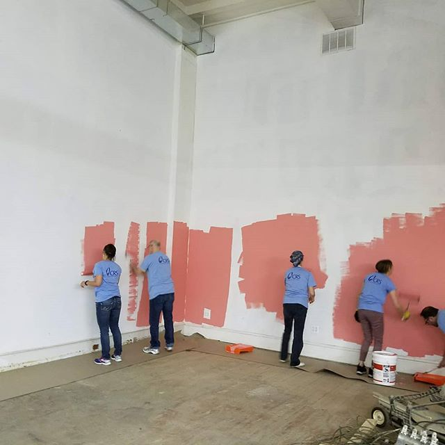 🌺🌺🌺 Who says a construction site can't be BRIGHT!  #comingsoon #baltimore #lemondo