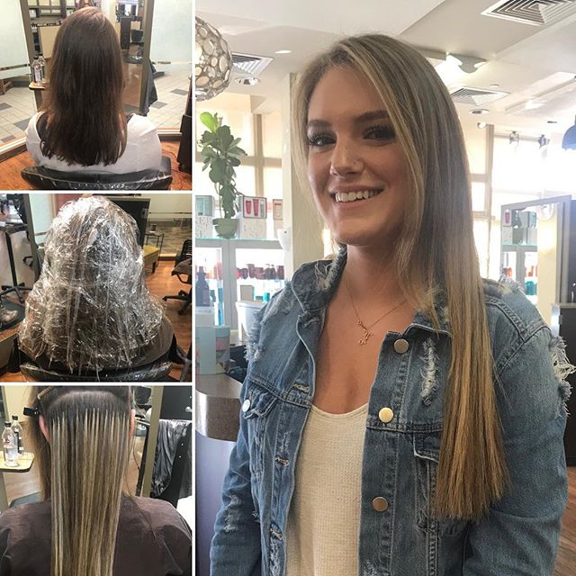 This transformation has us 😍 • Beautiful Balayage and extensions by @lisaamato • • • #makeover #balayage #blondebalayage #hairextensions #greatlengths #modernsalon #lorel #boulderhairstylist #beforeandafter