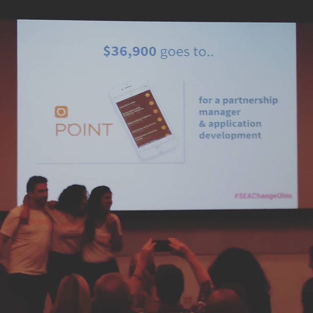Point just took the top prize at tonight's big SEA Change event! Congrats @pointapp on this big step forward in helping others! Thankful to have you as friends and O2 mentors. #awesomeO2mentors