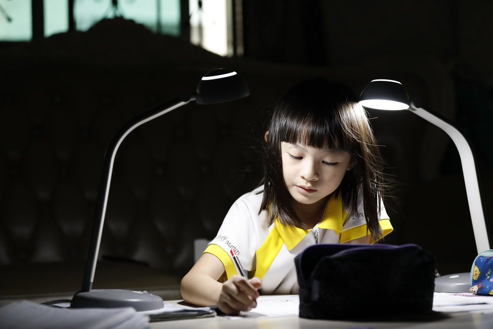 TAU YANG  Today's children are tomorrow's future. This is Gloria Lim studying and working hard in her Tampines home after a long day of school. The Chongzheng Primary School student understands the importance of learning, as she diligently completes her school homework every night in preparation for a bright future ahead.