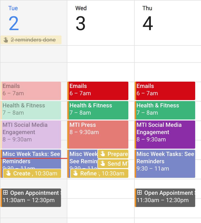 Screenshot - Of my calendar