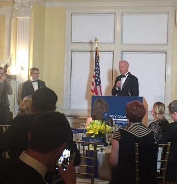 Former Vice-President of the United States of America speaking at the ACBH Gala Dinner.