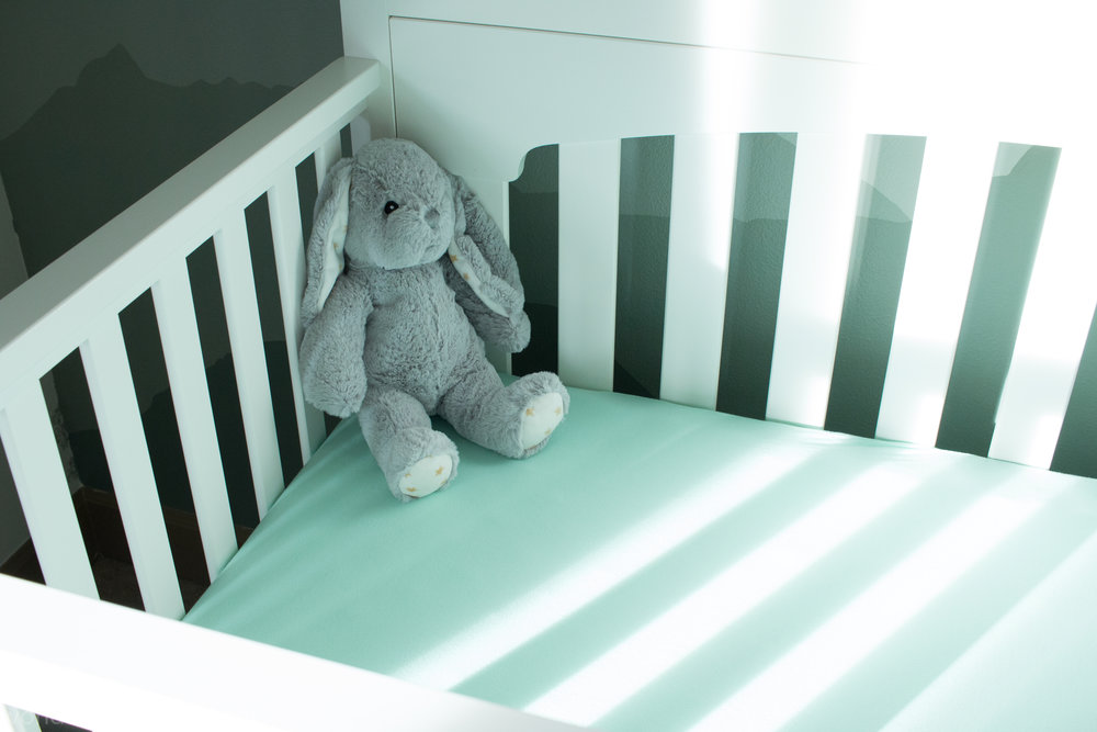 Pacific Northwest Themed Nursery grey bunny
