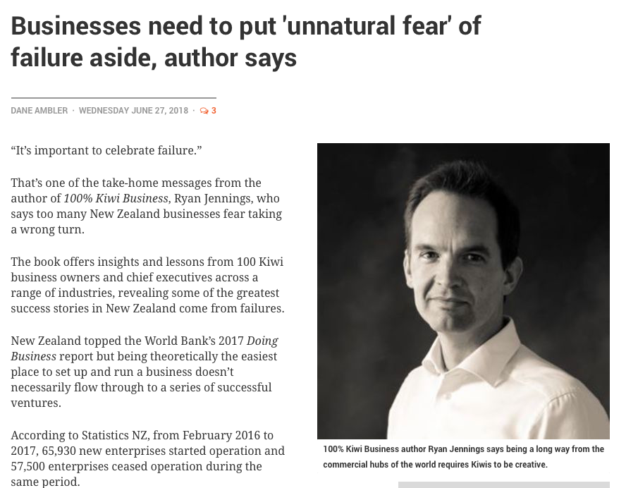 NBR - Put aside fear of failure article