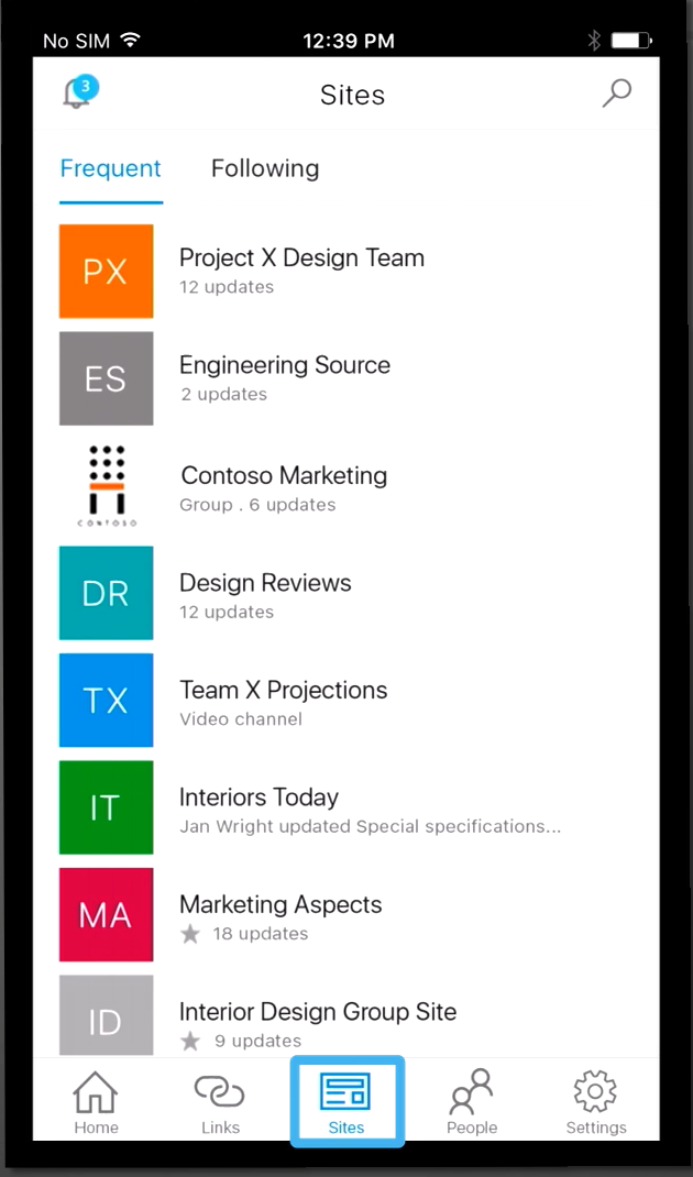 SharePoint App - Sites