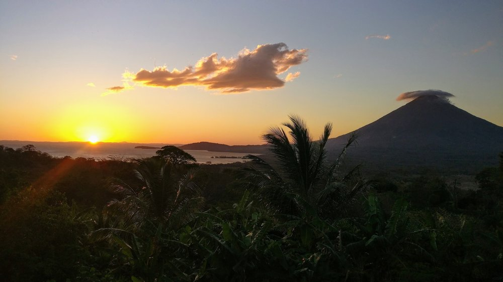 Sunset at InanItah, Isla de Ometepe.