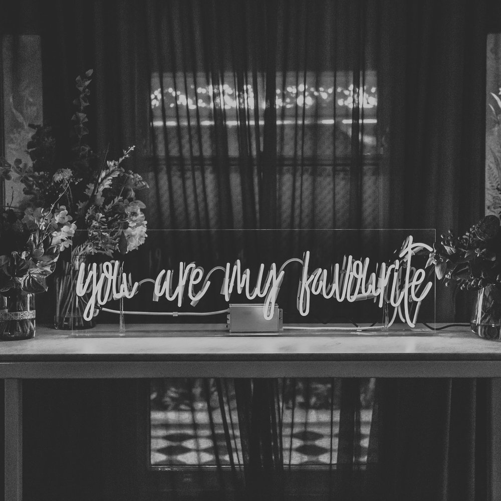 SOMETHING BORROWED NEON HIRE -