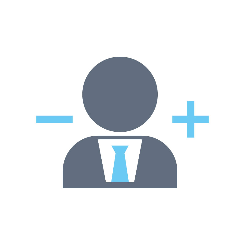 ADD & REMOVE USERS  Add and remove your team members on demand at a click of a button.