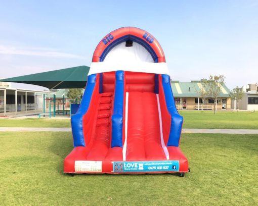 Big Red bouncy castle super slide hire